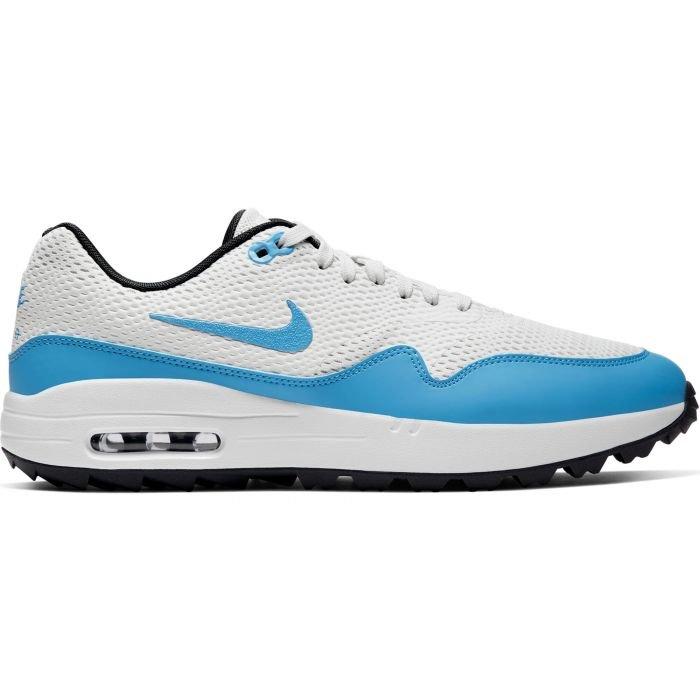 Nike Air Max 1 G Golf Shoes White/Anthracite/Platinum/Blue ...