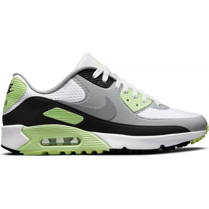 Nike Air Max 90 G Golf Shoes 2021 - White/Black/Light Smoke Grey/Particle Grey
