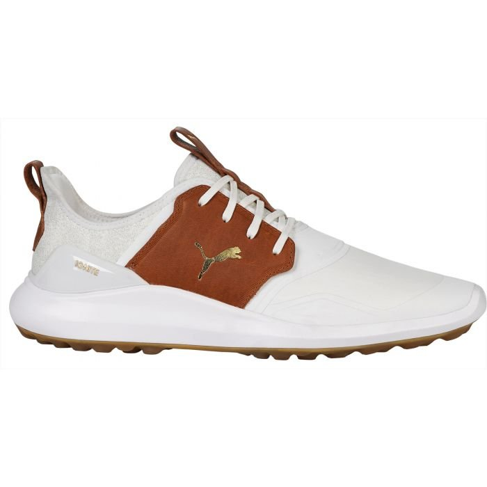 Puma IGNITE NXT Crafted Golf Shoes 2021 White/Leather Brown/Team ...