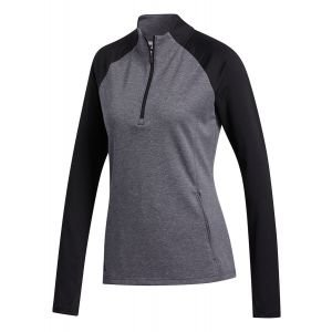 adidas Womens 1/2 Zip Heathered Golf Pullover