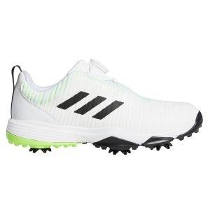Adidas Junior CodeChoas BOA Golf Shoes White/Black/Green