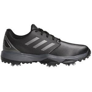 adidas Junior Kids ZG21 Golf Shoes Black/Silver