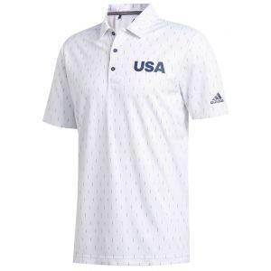 adidas Print USA Golf Polo