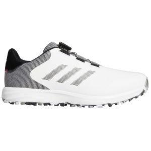 adidas S2G Boa Spikeless Golf Shoes White/Black/Grey