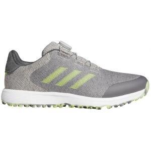 adidas S2G Boa Spikeless Golf Shoes 2021 - Grey/Solar Yellow/Grey