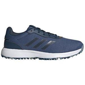 adidas S2G Spikeless Golf Shoes Blue/Navy/Yellow