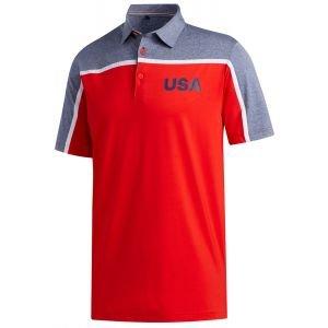 adidas Ultimate365 Color Block USA Golf Polo