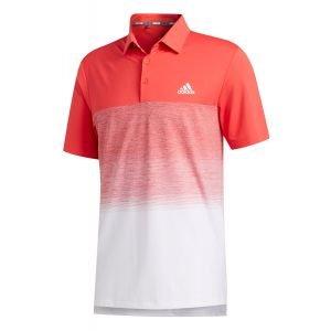 adidas Ultimate365 Fade Stripe Golf Polo