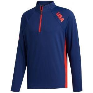 adidas USA Quarter Zip Golf Pullover