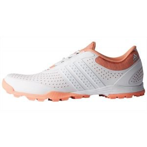 adidas Womens Adipure Sport Golf Shoes White/Coral