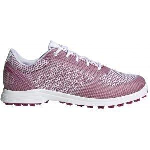 adidas Womens Alphaflex Sport Spikeless Golf Shoes Cloud White/Power Berry