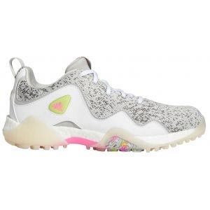 adidas Womens CodeChaos 21 Golf Shoes White/Scream Pink/Grey Two