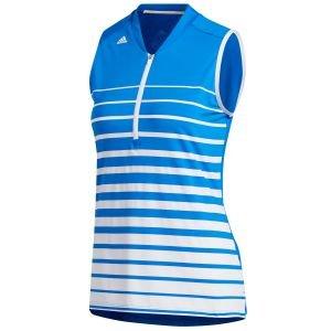 adidas Womens Engineered Stripe Sleeveless Golf Polo Shirt - ON SALE