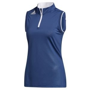 adidas Womens Gradient Quarter-Zip Sleeveless Golf Polo Shirt