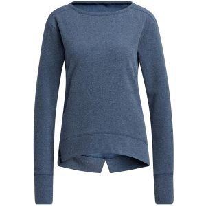 adidas Women's Heathered Fleece Primegreen Crew Golf Sweatshirt