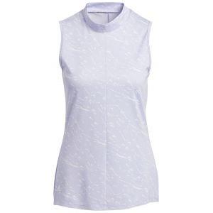 adidas Women's Jacquard Primeblue Sleeveless Golf Polo Shirt