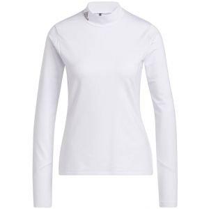 adidas Women's Sport Performance Primegreen COLD.RDY Long Sleeve Mock Neck Golf Shirt