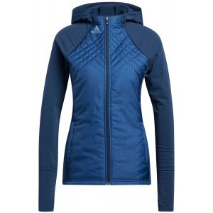 adidas Women's Sport Performance Recycled Polyester Quilted Full-Zip Golf Jacket