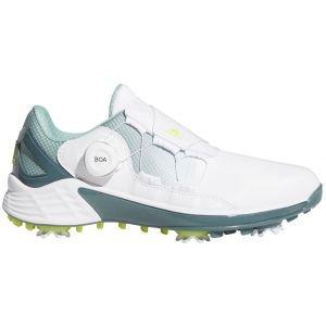 adidas Womens ZG21 Boa Golf Shoes White/Yellow/Green