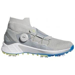 adidas Womens ZG21 Motion Primegreen Boa Mid Golf Shoes 2021 - Grey Two/Pulse Yellow/Focus Blue