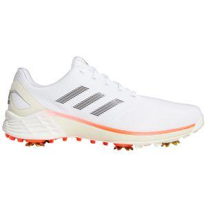 adidas ZG21 Golf Shoes Ftwr White/Core Black/Solar Red Heel