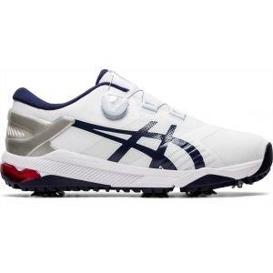 Asics Gel Course Duo Boa Golf Shoes White/Peacoat