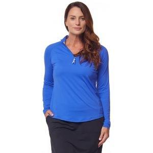 Bette & Court Women's Sunscape Mock Long Sleeve Golf Top