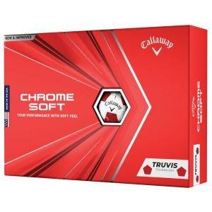 Callaway Chrome Soft Truvis Red Golf Balls 2020