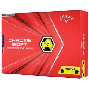 Callaway Chrome Soft Truvis Yellow Golf Balls 2020