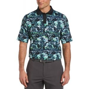 Callaway Structured Floral Print Golf Polo