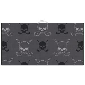 Devant Gray Skulls Ultimate Microfiber Golf Towel