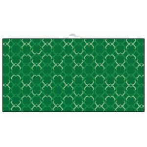 Devant Green Shamrocks Ultimate Microfiber Golf Towel