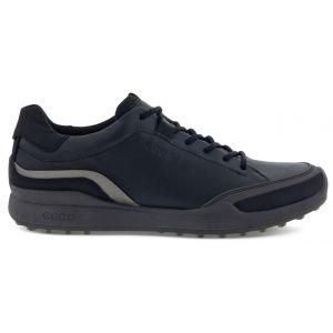 ECCO BIOM Hybrid 1 Golf Shoes Black/Buffed Silver/Black
