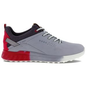 ECCO Womens S-Three Golf Shoes Silver Grey/Dahlia