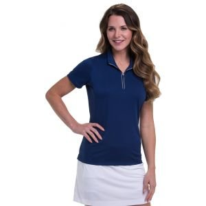 EPNY Women's Convertible Zip Mock Golf Polo