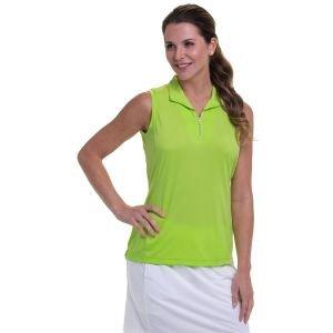 EPNY Women's Sleeveless Convertible Zip Mock Golf Polo