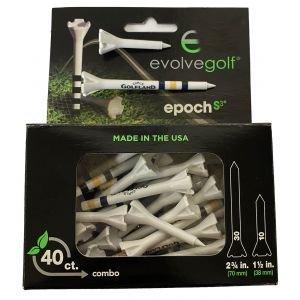 "Epoch Performance Golf Tees 2.75"" & 1.50"" - Carls Golfland Logo"