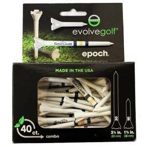 "Epoch Performance Golf Tees 3.25"" & 1.50"" Carl's Golfland Logo"