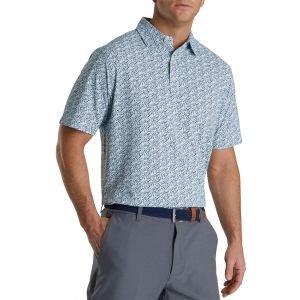 FootJoy Confetti Print Pique Self Collar Golf Polo