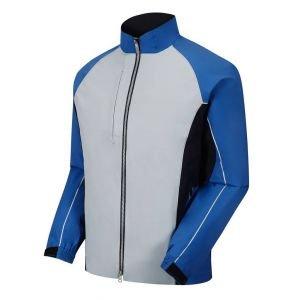 FootJoy Dryjoys Select Full Zip Rain Jacket Silver/Blue/Black - 35320
