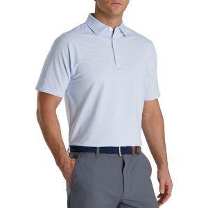 FootJoy Feeder Stripe Lisle Buttondown Collar Golf Polo
