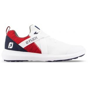 FootJoy Flex Golf Shoes - Red/White/Blue 56104