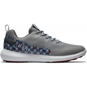 FootJoy Flex XP USA Golf Shoes Grey/Red/White/Blue Stars 56255