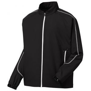 FootJoy Full-Zip Sport Golf Windshirt Black/White - 32642