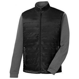 FootJoy Full-Zip Hybrid Golf Jacket Black/Charcoal 25212