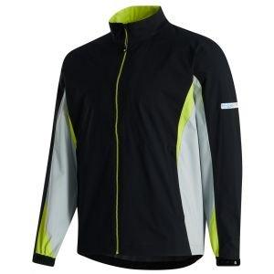 FootJoy HydroLite Golf Rain Jacket Black/Silver/Lime 32686