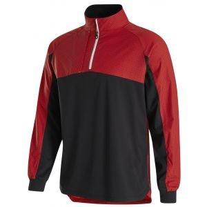 FootJoy HyperFlec Golf Pullover Black/Red Check 32673