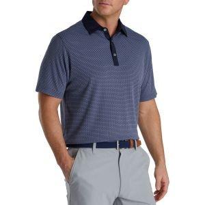 FootJoy Jacquard Dot Lisle Self Collar Golf Polo