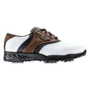 FootJoy Junior Originals Golf Shoes White/Brown/Black 45041