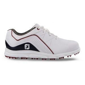 FootJoy Junior Pro SL Spikeless Golf Shoes White/Blue - 45028
